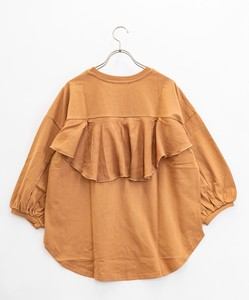 Jersey Stretch Toyayanagi Chiffon Bag Flare Three-Quarter Length T-shirt