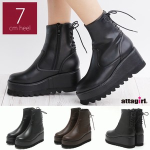 Bag Lace Attached Sole Short Boots