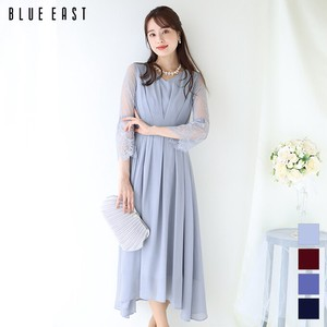 Waist Tuck Design Lace Regular Long Dress