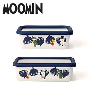 The Moomins Shallow Type Food Container 2 Pcs Set Container Enamel