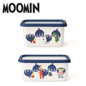 The Moomins Deep Food Container 2 Pcs Set Container Enamel