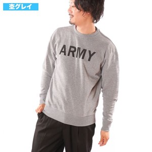 Raised Back Print Sweatshirt Print Army Sweat Shirt Sweat
