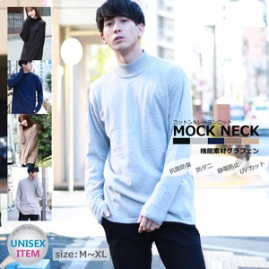 Effect Material High Neck Knitted Sweater Bottle Neck Knitted