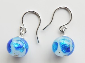 Original Color Firefly Glass White Pierced Earring Hook