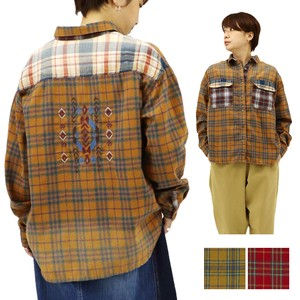 Reserved items A/W Gigging Checkered Ortega Embroidery Wide Shirt