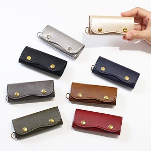 Key Case Key Ring Attached Gold Leather Artificial Leather