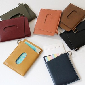 Commuter Pass Holder Leather Artificial Leather