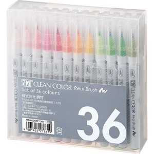 Clean Color Real Brush 36 color set