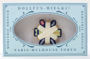 Mercerie Brooch 六角糸巻き