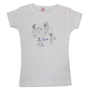 Ladies Short Sleeve T-shirt Ballet