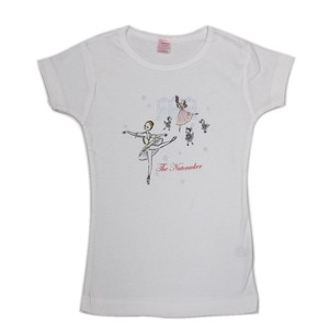 Ladies Short Sleeve T-shirt Walnut Split Doll Ballet