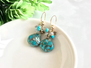 Blue Copper Turquoise Pierced Earring Earring
