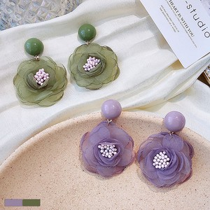 Flower Motif Pierced Earring