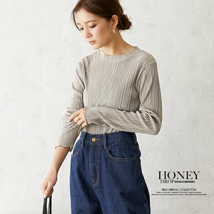 A/W Random Pleats Mellow Long Sleeve Top Korea