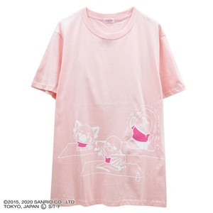 Short Sleeve T-shirt Print Bag Print Pink