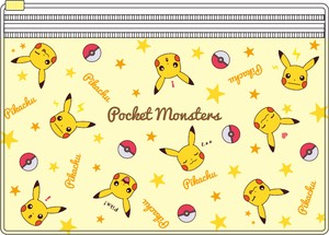 Tease Pocket Monster Pocket Clear Pouch Face Pattern