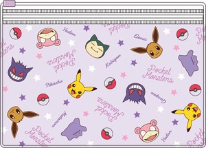 Tease Pocket Monster Pocket Clear Pouch Face Pattern Mix