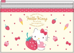 Tease Sanrio Pocket Clear Pouch Hello Kitty Happiness Girl