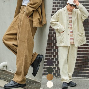 A/W Suit Set CORDUROY Balloon wide pants