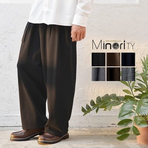 Belt Attached Sweat ponte fabric wide pants