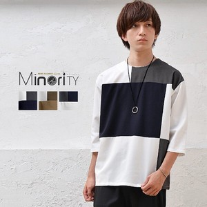 Switching 8/10Length Pullover Shirt