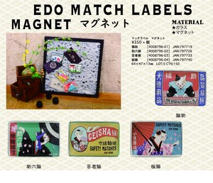 Label Magnet Cat Design Souvenir