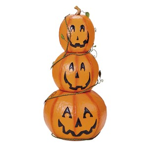 Pumpkin Triple Objects Shop Decoration Halloween For