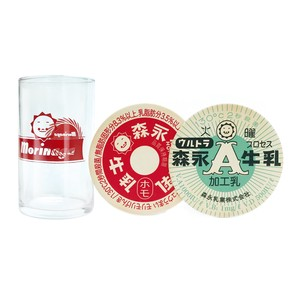 森永乳業 ホモちゃんグラス コースター2枚セット Morinaga MN003