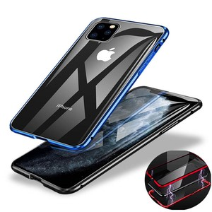 Smartphone Case iPhone Aluminium Reinforcement Glass Whole Area Protection Magnet Impact