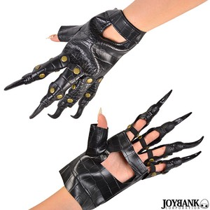 [ 2020NewItem ] Crocodile Attached Glove Glove Cosplay Horror Fake Leather