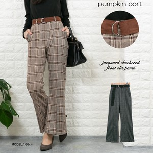 Jacquard Checkered Flare Pants