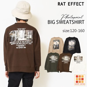 A/W Raised Back Photo Print Big Sweatshirt Boys Children's Clothing