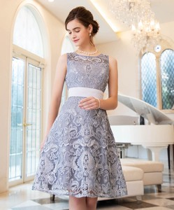 Geometric Patterns Lace Flare Band Dress