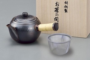 Japanese Tea Pot attached strainer Bronze Finish