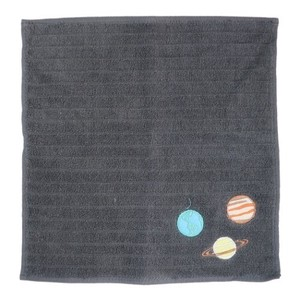 Hand Towel One Point Embroidery Handkerchief Towel Planet