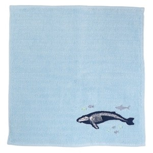 Hand Towel One Point Embroidery Handkerchief Towel Sea Creatures
