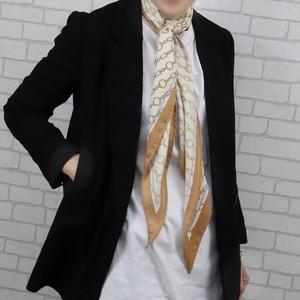 ポリエステルサテンチェーン柄PT変形スカーフ