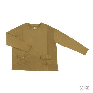 Reserved items A/W Jersey Stretch Dyeing Processing Pocket Switching Crew Neck