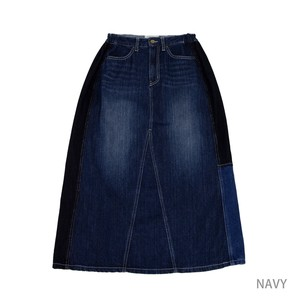 Reserved items A/W Denim Remake Switching Long Skirt