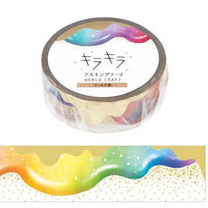 NEW!【キラキラマスキングテープ 15mm  Colorful puddle】デコレーション マスキングテープ レター