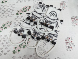 Selling Felt Animal Mobile Phone Case Zebra 5-item Set