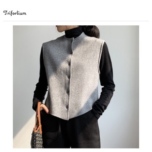 """2020 New Item"" 4 Colors Puffy Knitted Sleeveless Vest"