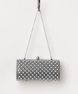 Square Grid Pattern Compact Clutch Bag