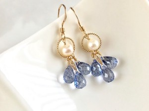 Stick Topaz Drop Pierced Earring Earring