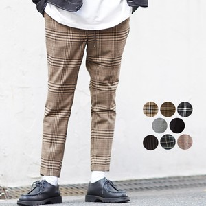 A/W Men's Dyeing Checkered Ankle Tapered Pants