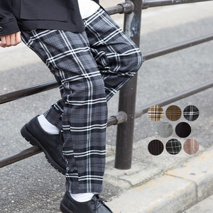 A/W Men's Dyeing Checkered Wide Tapered Pants