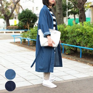 Waist Belt Attached Denim Robe mitis