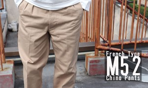 France Type Chino Pants 3 Colors New Color Black