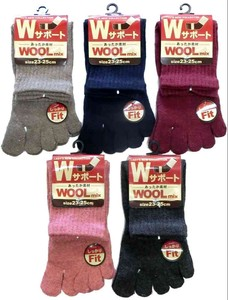 A/W Ladies Five Finger Socks