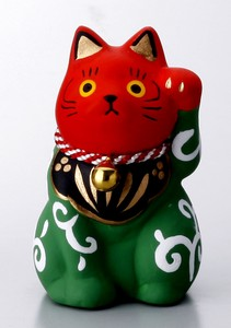 Objects and Ornaments Folk Craft Welcoming Cat Lion